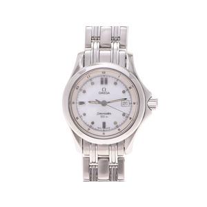Omega Seamaster 120m 2511.21 Ss White Dial Board Quartz Clock Watch