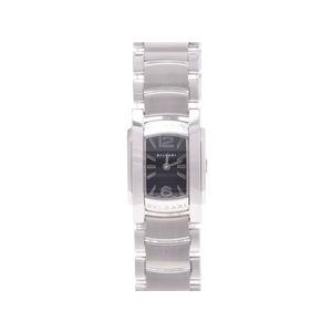 ブルガリ アショーマ AA26S SS クオーツ時計 黒文字盤 BVLGARI  腕時計