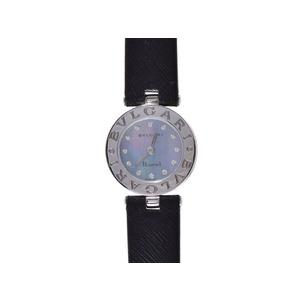 ブルガリ B-ZEROウォッチ シェル文字盤 12Pダイヤ SS 革 クオーツ BVLGARI  腕時計
