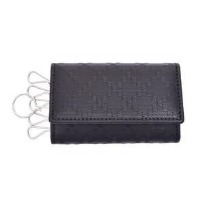 グッチ(Gucci) グッチ ディアマンテ 6連キーケース PVCレザー 黒 箱 GUCCI キーケース