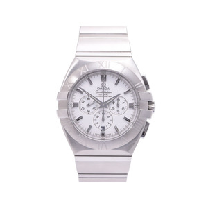 Omega Constellation 1514.20 Ss Chrono Back Scale White Dial Board Men's Watch