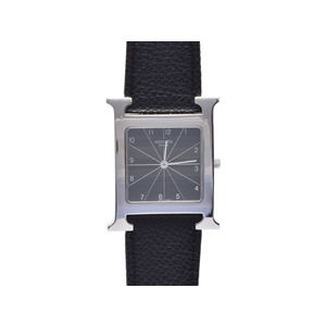 Hermes (Hermes) Ramsys Ss Leather Hh 1.710 Black Letter Board Watch