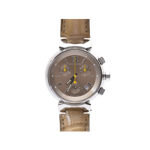 Louis Vuitton (Louis Vuitton) Tambour Chrono Q1322 Ss Leather Quartz Wrist Watch