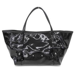 Salvatore Ferragamo Women's Patent Leather Tote Bag Black