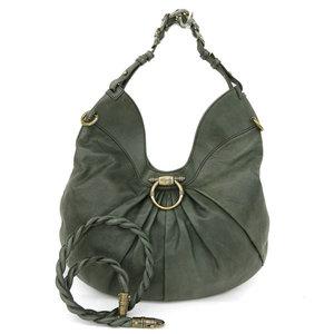 Salvatore Ferragamo Gancini Women's Leather Shoulder Bag Green