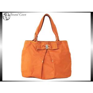 Salvatore Ferragamo Leather Nylon Handbag Orange