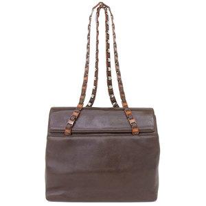 Salvatore Ferragamo Leather Leather Shoulder Bag Brown
