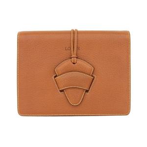 Loewe Barcelona Leather Monogram Clutch Bag Brown,Monogram