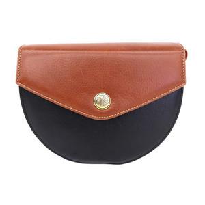Loewe Women's Leather Monogram Shoulder Bag Bicolor,Black,Brown,Monogram