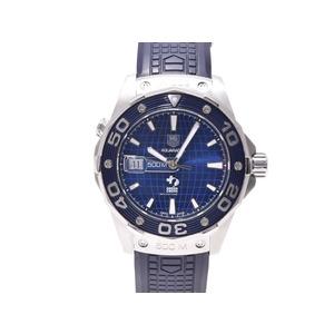 タグホイヤー アクアレーサー WAJ2116 SS 青文字盤 ディカプリオ限定 1600本 裏スケ TAG Heuer   腕時計