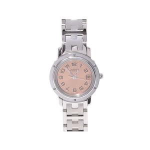 エルメス(Hermes)  クリッパーCL4.210 SS ピンク文字盤 クオーツ時計    腕時計