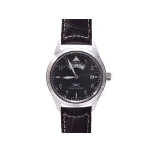 Iwc Spitfire Utc Iw 325105 Ss Leather Self-winding Watch Wrist
