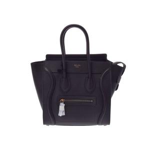 Celine Luggage Micro Shopper Gray Calf Bag