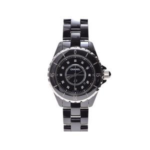 シャネル(Chanel) J12 黒セラ 33mm 12Pダイヤ H1625 CHANEL  腕時計