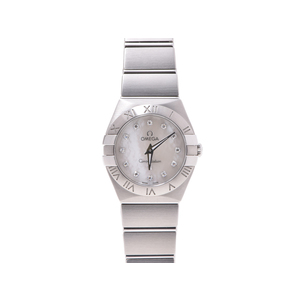 Omega · Constellation Ss 12p Diamond Shell Dial Plate Quartz Clock Watch
