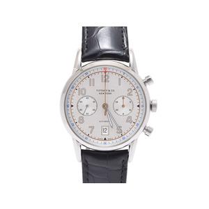 ティファニー CT60 クロノグラフ42MM SS 革 裏スケ 箱 ギャラ TIFFANY&CO  腕時計