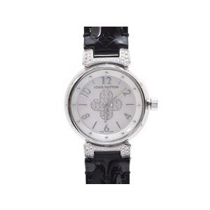 ルイヴィトン(Louis Vuitton) タンブール フォーエバー Q121P ラグダイヤ シェル文字盤 文字盤ダイヤ SS 革 箱 ギャラ   腕時計