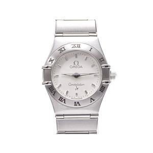 Omega Constellation Mini 1562.30 Ss White Dial Plate Quartz Watch