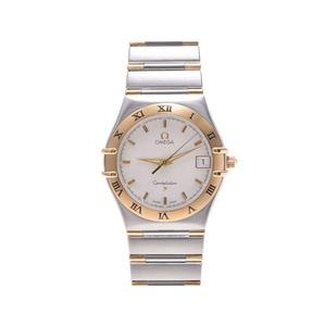 Omega Constellation Yg Ss Mens White Series Dial Quartz Wrist Watch