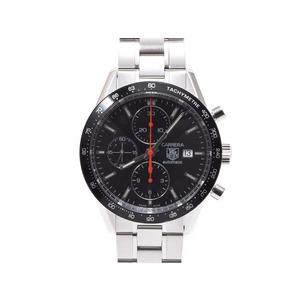 タグホイヤー カレラ クロノ CV2014-2 SS 黒文字盤 裏スケ 自動巻 時計 TAG Heuer  腕時計