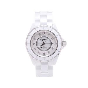 Chanel (Chanel) J12 White Ceramic 8p Diamond H2423 Shell Dial Plate Watch