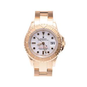 ロレックス ヨットマスター69628 W番 YG 白文字盤 ROLEX  腕時計