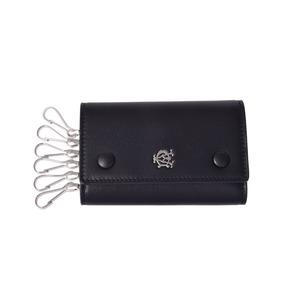 ダンヒル(Dunhill) ダンヒル リーブス 6連キーケース 黒 カーフ L2XR51 DUNHILL キーケース