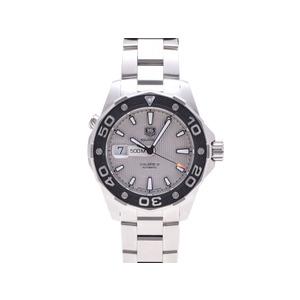 タグホイヤー アクアレーサー WAJ2111 キャリバー5 SS 裏スケ シルバー系文字盤 ギャラ TAG Heuer  腕時計