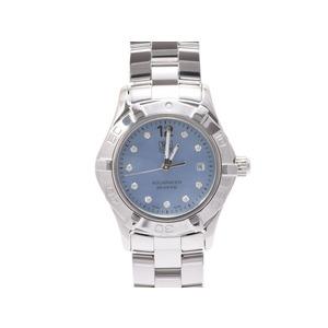 タグホイヤー アクアレーサー WAF1419 ブルーシェル文字盤 10Pダイヤ SS 時計 TAG Heuer  腕時計