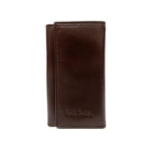 Paul Smith Leather Quarter Key Case Brown 0362 Unisex