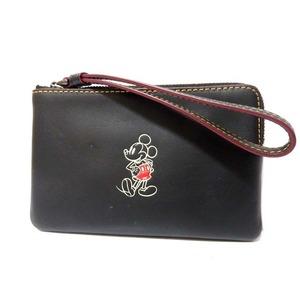 Coach × Disney Leather Pouch Multi Case Black 0344 Unisex