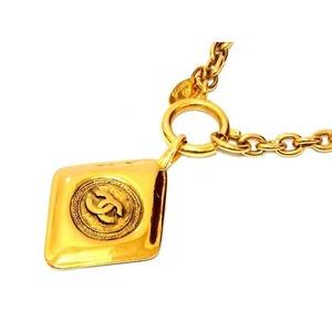 Chanel Coco Mark Matrasse Necklace Vintage Gold 0361 Unisex