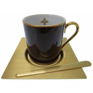 Louis Vuitton Monogram Flower Novelty Tea Cup Saucer Madler Brown Lv 0369