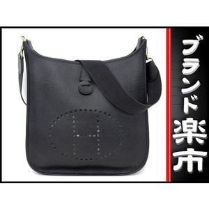Hermes Hermes Evelyn Gm Ardennes Shoulder Bag Black □ E