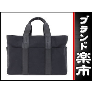 Hermes Hermes Nylon × Leather Acapulco Mm Black Bag