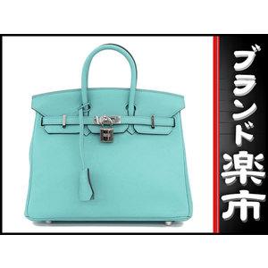 Hermes Hermes Birkin 25 Blue Saint Seal X Engraved Bag