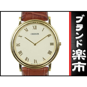 Seiko Seiko K18 Credor Mens Quartz Wrist Watch 5a 74-0530 White Dial 32.1 G