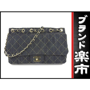 Chanel Chanel Denim Matrasse Chain Shoulder Bag