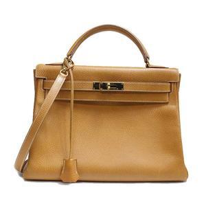 Hermes Kelly 32 Ardennes Natural B Engraved Handbag Bag