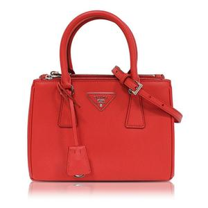 Prada 2 Way Handbag 1 Ba 896 Saffiano Red Ladies' Bag