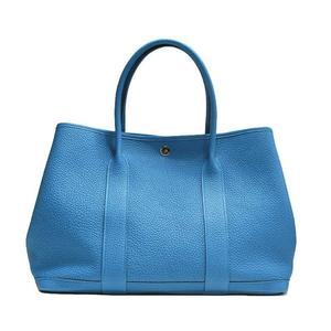 Hermes Garden Party Pm Negonda Blue Zanzibar A Time Tote Bag
