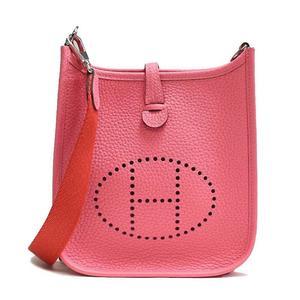 Hermes Evelyn Tpm Triyon Clemence Rose Azalea Shoulder Bag