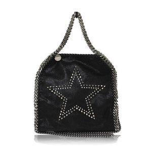 Stella McCartney Stella · Mccartney Stella M Ccartney Farabella Star In S Studs Small Tote Bag 371223 Black Silver Shoulder Women's 2016 Current Item