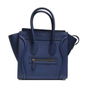 Celine Luggage Micro Shopper 167793 Navy Handbag Ladies' Bag