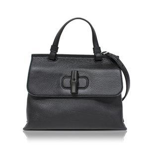 Gucci Bamboo Daily 2 Way Handbag 370831 Black Ladies Bag