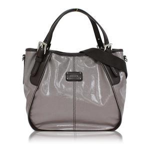 Tod's 2 Way Handbag Gray × Dark Brown Women's Unused Bag