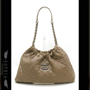 Chanel (Chanel) Caviar Skin Hobo Bag Brown