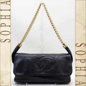 Chanel (Chanel) Soft Calfskin · Chain Shoulder Bag Black 2way