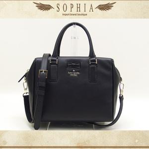 Kate Spade (Kate Spade) 2 Way Leather Mini Boston Bag Black
