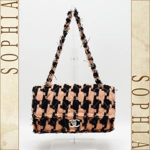 Chanel Tweed-like Chain Matrasse Double Bag